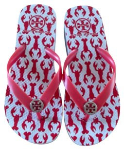 Tory Burch Flip Flops Wedges red/white Sandals