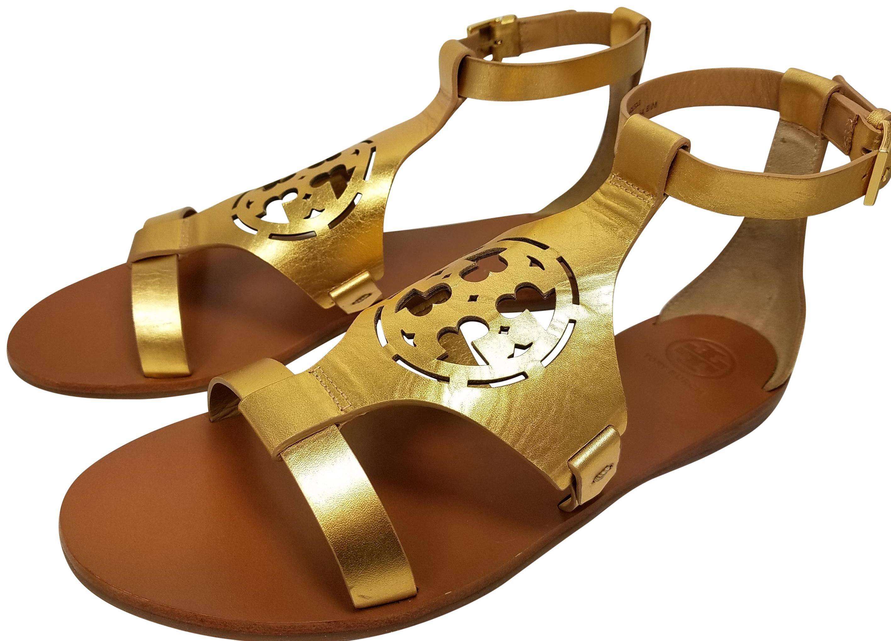Tory Burch gold Sandals ...