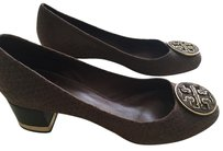 Tory Burch Leather Brown , Truffle Pumps