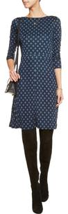 Tory Burch short dress Navy Lori White Silk on Tradesy