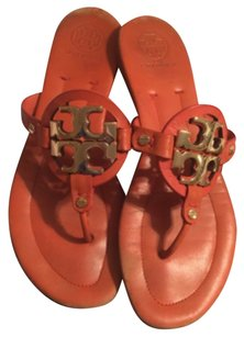 Tory Burch Miller Miller 2 Thong Flip Flops orange Sandals