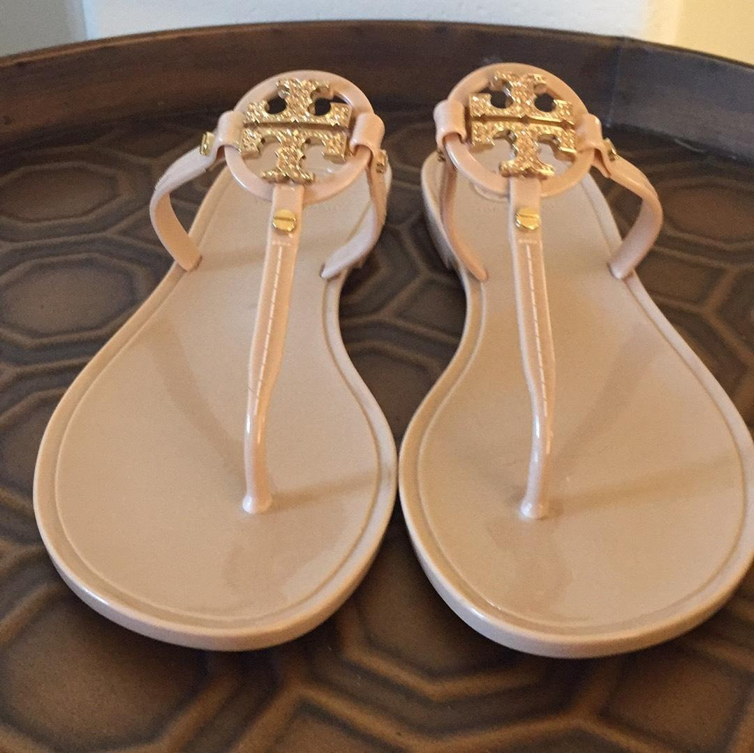 0961ce9c1 ... Tory Burch  mini  mini  mini Miller  Jelly Flip Flop Sandals Size US ...
