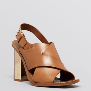 Tory Burch Natural bark brown tan Platforms