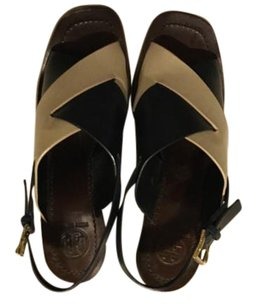 Tory Burch Navy/dulde de leche Sandals