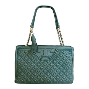 Tory Burch Open Fleming Lambskin Shoulder Bag