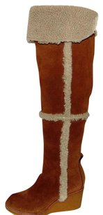 Tory Burch Cassius Shearling Brown Boots