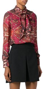 Tory Burch Pussy Bow Top Pink / Brown