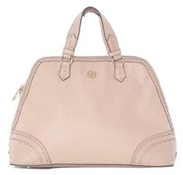 Tory Burch Pyramid Robinson Satchel in Light Oak