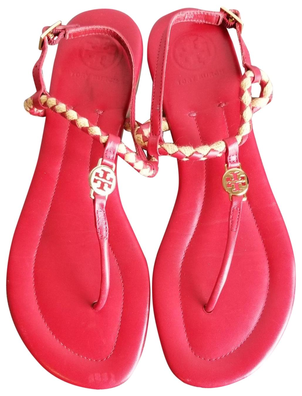 af4c23f72 Tory Tory Tory Burch Red Gold Sandals Size US 8.5 Regular (M
