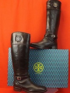 Tory Burch Riding Equestrian Brown Boots