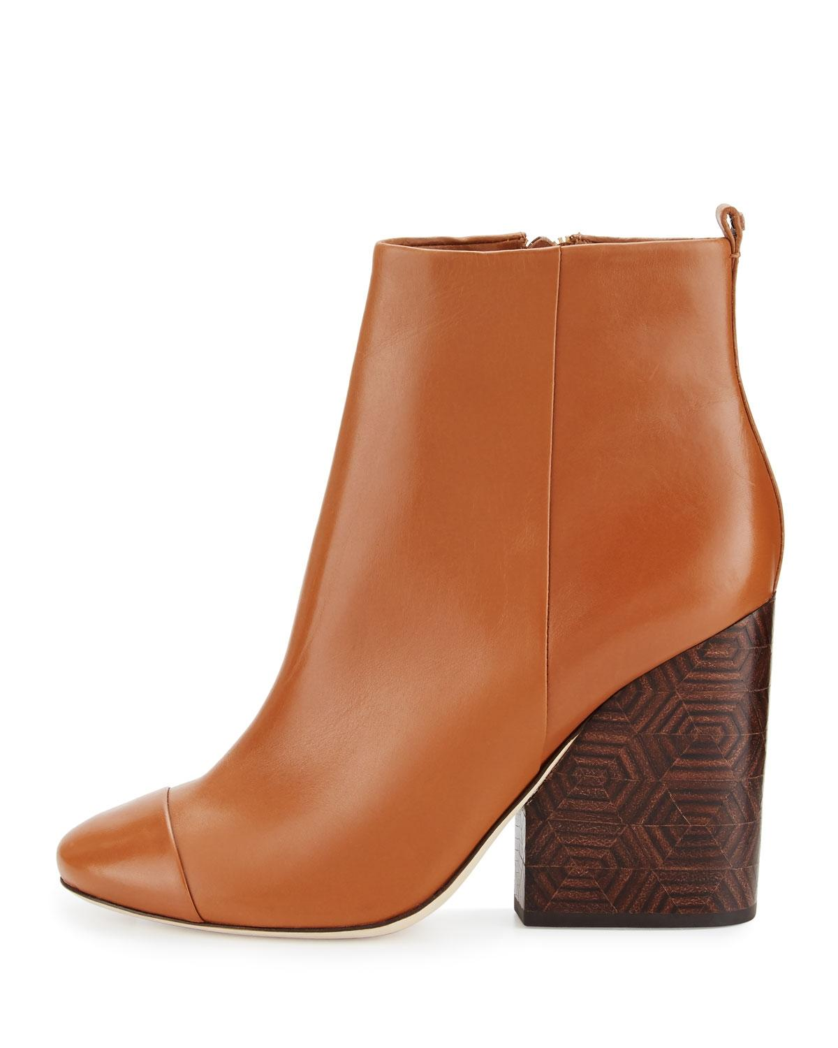 70dcab374833 ... Tory Tory Tory Burch Royal Tan Grove 100mm Leather Boots Booties Size US  10 Regular ...