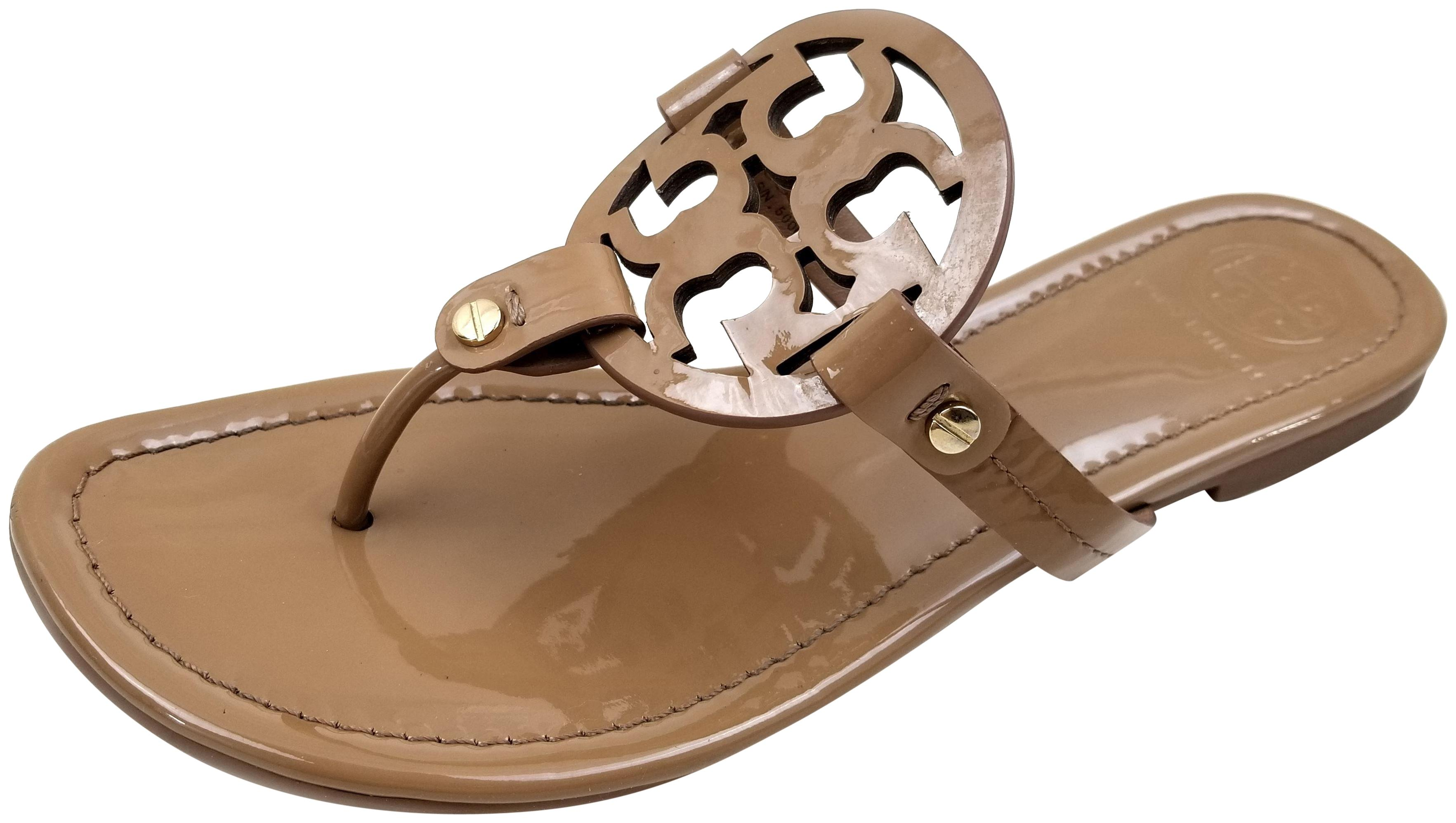 Tory Burch Sand Patent Miller Sandals Size US 5 Regular (M, B)