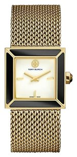Tory Burch SAWYER TORY BURCH WATCH, GOLD-TONE MESH/ONYX, 25 MM