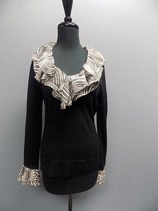 Tory Burch Stretchy Round Neck Removable Collar 1967a Sweater