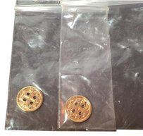 Tory Burch Set of 2 TORY BURCH REPLACEMENT BUTTON GOLD Small (1mm) NEW