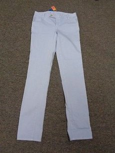 Tory Burch Blue Cotton Blend Low Rise Super Skinny Sma9026 Skinny Jeans