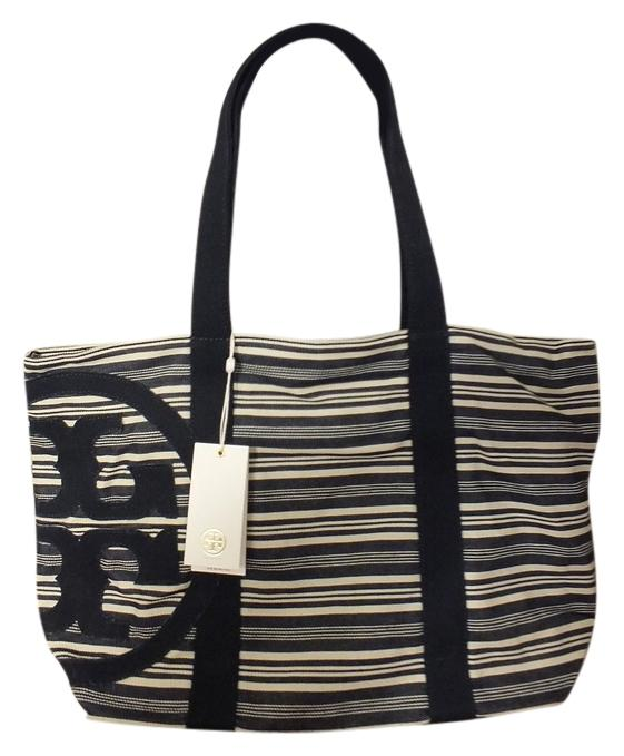 Tory Burch Denim Stripe/408 Beach Bag ...