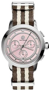 Tory Burch Tory Burch Stripe Stainless Steel Chronograph Women's Trb1019 Watch
