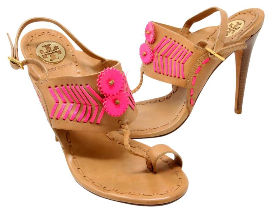 prices online sale online store Tory Burch Tanya Leather Sandals sale best store to get free shipping best store to get ESKmOZ6RfP
