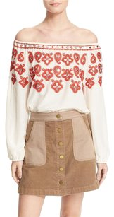 Tory Burch Top Ivory / Red Canyon