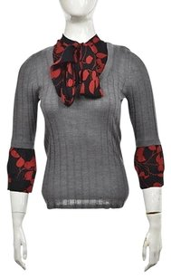 Tory Burch Womens Gray Top Multi-Color