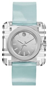 Tory Burch TORY BURCH IZZIE STAINLESS STEEL AND PATENT - LEATHER WATCH TRB3004