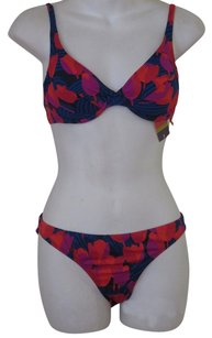 Tory Burch Tory Burch Print Hipster Bikini Bottoms L NWT $95 Normandy Blue Fleur D'Ete