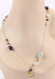 Tous Estate,Tous,18k,Yellow,Gold,Multi,Gemstones,Pearls,Long,Necklace,-36,Long