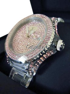 Toy Watch Toywatch,Pink,Crystal,Encrusted,Clear,Watchpink