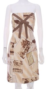 Tracy Reese Multi Color Print Silk Dress
