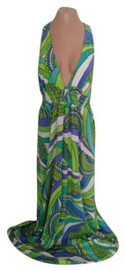 Green, white multi Maxi Dress by Trina Turk