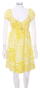 Trina Turk short dress Yellow and White Print Cotton Sleeveless Los Angeles on Tradesy