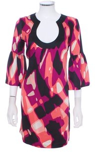 Trina Turk Silk Shift 60's Mod Dress