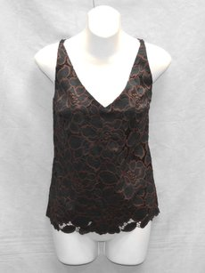 Trina Turk Black Embroidery Top Black/Plum