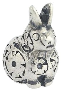 Trollbeads Trollbeads Charm - Sterling Silver Decorative Rabbit Bead 11360 925 Laa