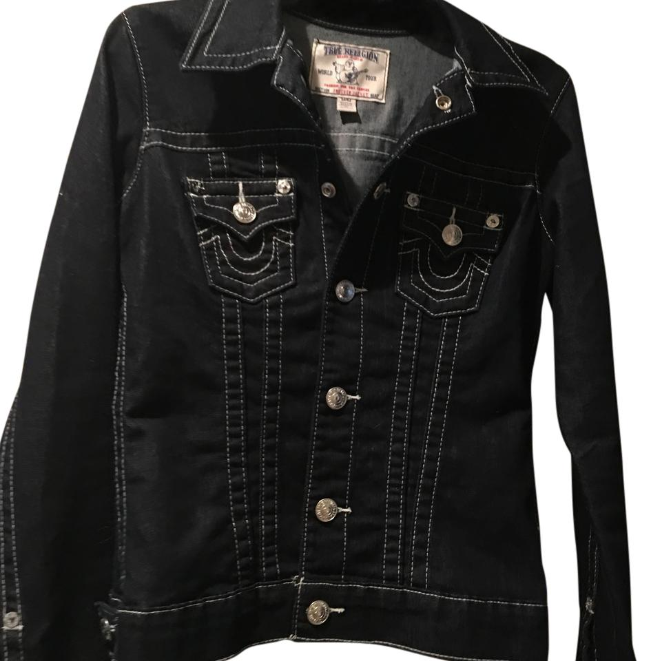 True religion womens denim jacket
