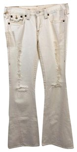 True Religion Joey Destroyed Bleach Boot Cut Jeans