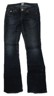 True Religion Blue Dark Wash Classy Joey Distressed Flare Leg Jeans
