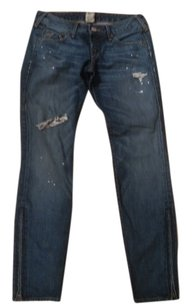 True Religion Gwen Low Rise Distressed Skinny Jeans-Distressed