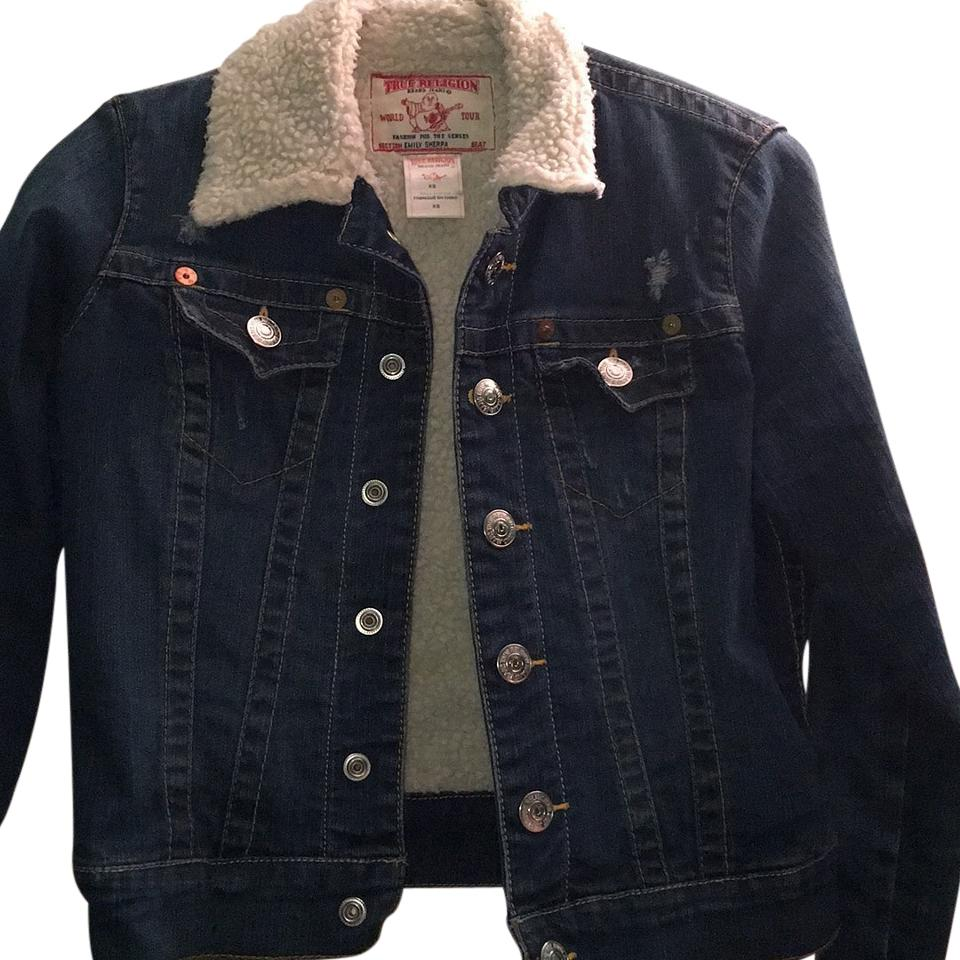 true religion not the ordinary jean denim jacket size 0
