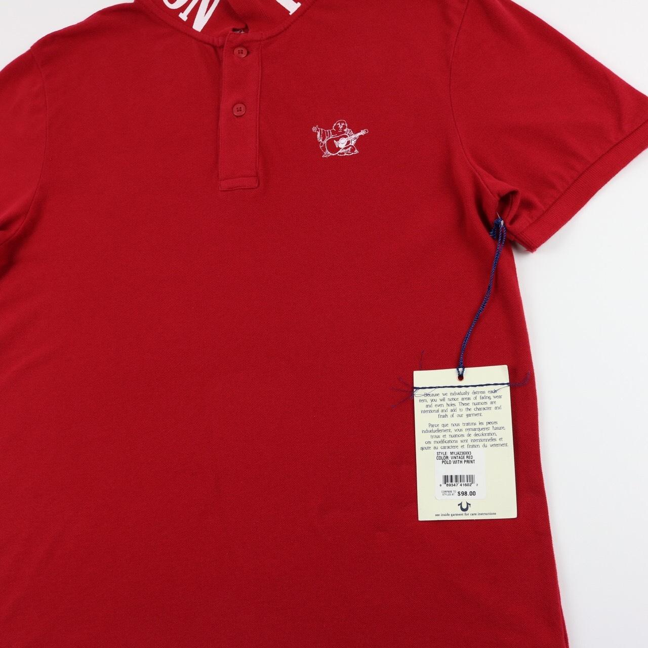 Red True Religion Polo Topsimages