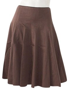 TSE Cotton Blend Career Skirt Brown