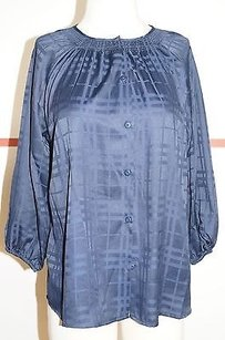 Tucker Navy Polyester Smock Style 34 Sleeve Boat Neck 9195 Top Blues