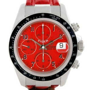Tudor Tudor Tiger Prince Date Chronograph Red Dial Steel Watch 79260
