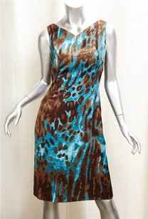 Tuleh short dress BROWN/ BLUE Brown And Leopard on Tradesy