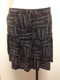 Tulle Colored Mini J5275 Tiered Skirt Black Multi