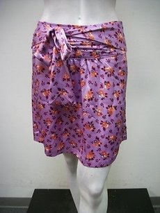 Tulle Coral Floral Print Style J5240 Skirt Purple