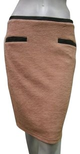 Tulle Rose Dust Pencil Skirt Pink