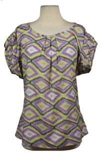 Tulle Womens Printed Top Gray