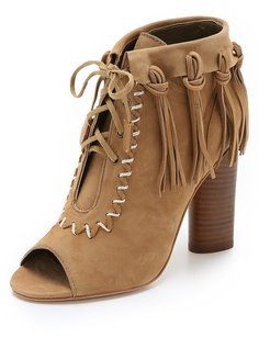 Twelfth St. by Cynthia Vincent Nailed Fringe Brown Boots
